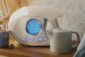 swan teasmade in white