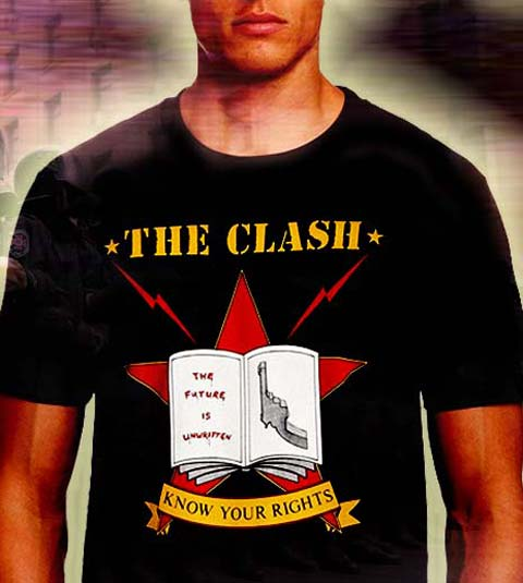 clash ,know your rights t-shirt