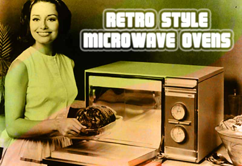 retro styled microwave ovens